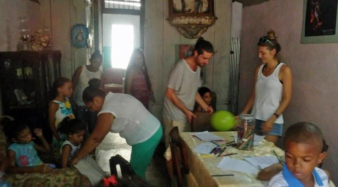 MERCI DE TOUT COEUR A MALAURY ET SON AMI, JEUNES FRANÇAIS, POUR LEUR VENU A NOTRE CENTRE MISERICORDE DE CUBA.