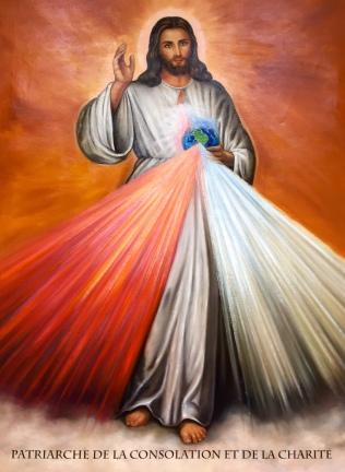 Nouveau tableau Jésus Patriarche de la Consolation et la charité- Jesus Patriarca de la divina misericordia1G