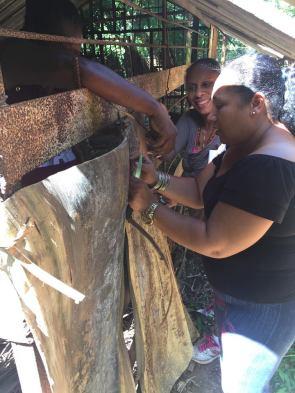 travaux aménagement - preparation chapelle marie yaneysi et quenia cmd octobre 2018