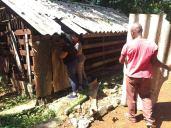 travaux aménagement - preparation-toit chapelle marie équipe cmd octobre 2018