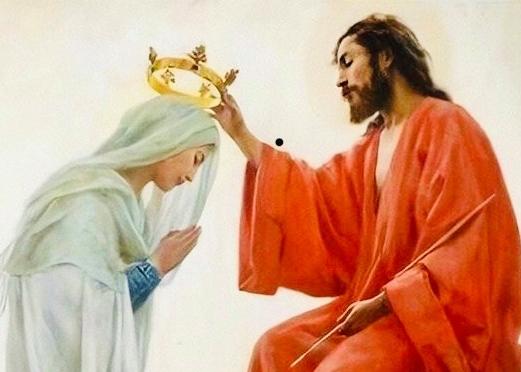AOÛT,  Mois de LA VIERGE Marie : son assomption et le Couronnement au ciel.